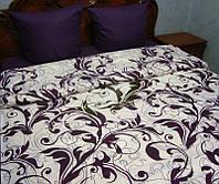 """Комплект постельного белья полуторный """"Фиолетовый ажур"""",бязь."""