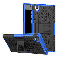 Чехол Sony Xperia L1 / G3311 / G3312 / G3313 противоударный бампер синий