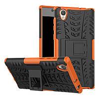 Чехол Sony Xperia L1 / G3311 / G3312 / G3313 противоударный бампер оранжевый