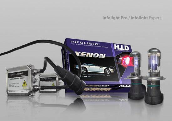 Биксенон. Установочный комплект Infolight Expert H4 H/L 6000K 35W, фото 2