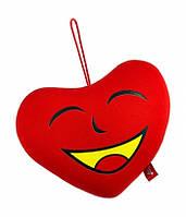 """Антистрессовая игрушка мягконабивная """"SOFT TOYS """"Сердце"""", с желтым ртом Danko Toys"""