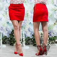 Короткая юбка красная - 13948