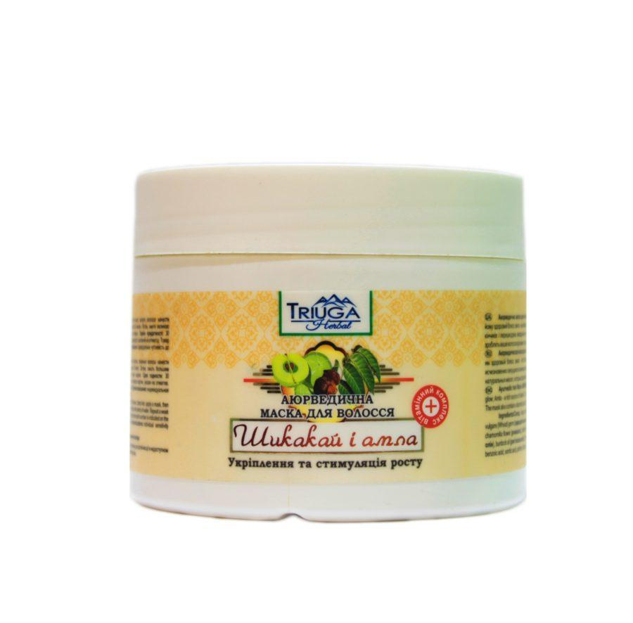Маска для волос — укрепление и стимуляция роста «Шикакай и амла» 300мл.