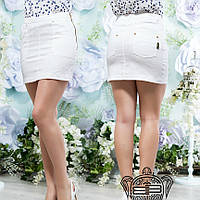 Короткая юбка белая- 13949
