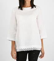 Блуза льняна з бавовняним мереживом, фото 1