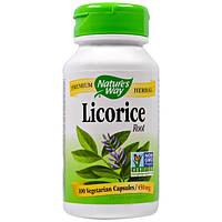 Солодка (ликорис) корень100 капс 450 мг от кашля, отхаркивающее, для разжижения мокроты Nature's Way USA