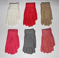 Детские теплые красивые вязанные перчатки рукавички
