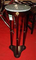 Підставка для квітів SR-0486-W дерев'яна з мармурової круглою стільницею