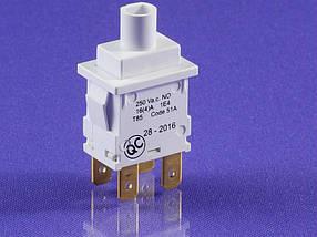 Кнопка сетевая для стиральной машины BEKO без индикации (220В, 16А) (2808540300)