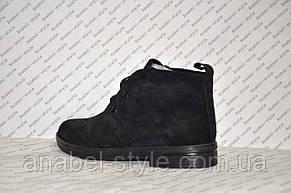 Полуботинки женские из натуральной кожи  черного цвета шнуровка Код 969, фото 3