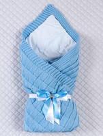 Демисезонное одеяло-конверт для новорожденных Лапушка