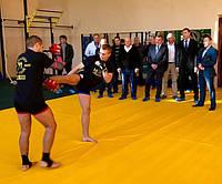 Открытие зала для бойцов ММА