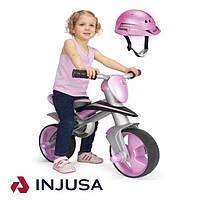Беговел с защитным шлемом розовый INJUSA 502, фото 1