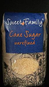 Сахар тростниковый, SweetFamily 1кг.
