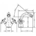 Двухвентильный смеситель для биде GENEBRE NRC  68516 09 43 66, фото 2