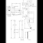 Набор смесителей для ванны со штангой GENEBRE Tau2 04TA2V17RO, фото 2