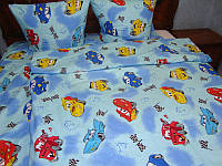 """Детский комплект постельного белья """"Машинки"""",бязь."""
