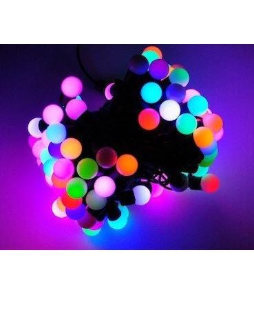 Новогодняя гирлянда 50 ламп multi 5 метров - гирлянда разноцветные шарики