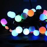 Новогодняя гирлянда 50 ламп multi 5 метров - гирлянда разноцветные шарики, фото 2