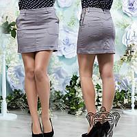 Короткая юбка серая - 13950