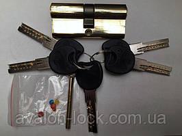 Латунный секрет с лазерным ключём (Computer key) C 60mm 30/30 PB ключ/ключ.