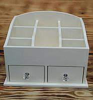 Органайзер для хранения косметики мини White, 2 ящика (цвет на выбор)