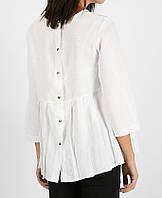 Свободная льняная блуза на кнопки, фото 1