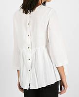 Вільна блуза льняна на кнопки, фото 1