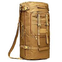 Сумка рюкзак большого размера 55 л. Трансформеры. Черный, хаки и зеленый.