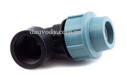 """Колено 20х3/4"""" резьба внутренняя для полиэтиленовых пнд труб (Santehplast)"""