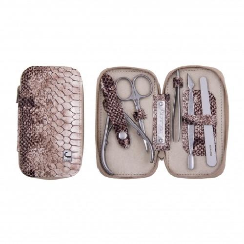 """Набор маникюрный """"Змейка"""" Сталекс, Артикул: НМ-01, Материал чехла: кожа, В наборе 5 предметов: ножницы для ман"""