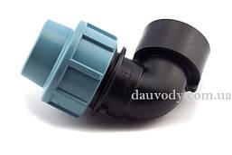 """Колено 25х1/2"""" резьба внутренняя для полиэтиленовых пнд труб (Santehplast)"""