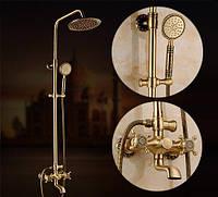Смеситель для душа в ванную бронзовый Aquaroom кран в раковину для умывальника