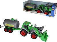 Фермер-техник, трактор-погрузчик с цистерной (в коробке), Полесье