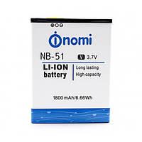 Аккумулятор NB-51 для NOMI i500 Sprint (Original) 1800мAh