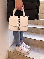 Женская сумочка LOUIS VUITTON CHAIN IT белая натуральная кожа