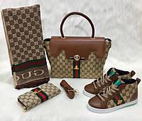 Набор GUCCI:сумочка,ботиночки