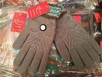 Женские перчатки теплые шерстяные оптом