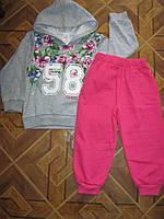 Детский костюм 2-х нитка  на байке с капюшоном для девочки 4-6 лет Туруия