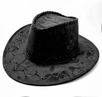 Шляпа-Ковбоя детская (чёрная), фото 1