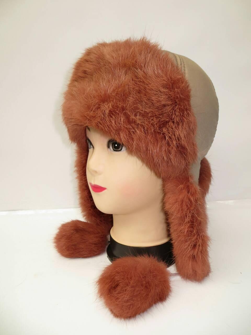 Зимняя шапка ушанка (натуральный мех)