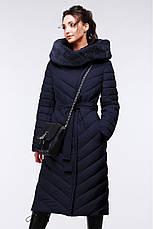 Стильное стеганное длинное пальто Фелиция 2, фото 3