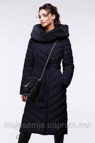 Стильное стеганное длинное пальто Фелиция 2, фото 2