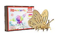 """3D деревянный конструктор 603 """"Бабочка""""в корбке 26см-18см-4см"""