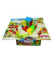 Домик DT8899-5 (192шт/3) детская площадка, фигурки,домик, в пакете