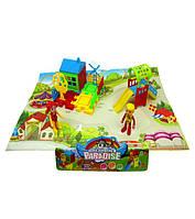 Домик DT8899-7 (144шт/3) детская площадка, фигурки,домик,горка, в пакете