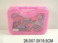 Доктор 5645 (820927) (60шт/2) стетоскоп,шприц,тонометр,мензурки в чемоданчике26*7*19,5см