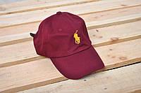 Бейсболка кепка Polo Ralph Lauren / Поло Ральф Лорен / баклажан