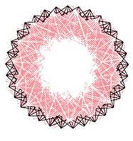 Розовые и фиолетовые  контактные увеличивающие линзы для глаз