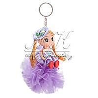 Брелок кукла Эльза на шаре, с косичками, цвета в ассортименте